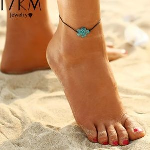 turtle anklet lobster claw clasp adjustable